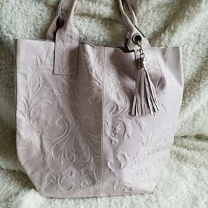 Borse in Pelle Italian Tooled Leather Tote Pursre
